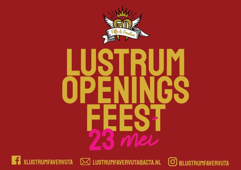 Lustrum Openingsfeest