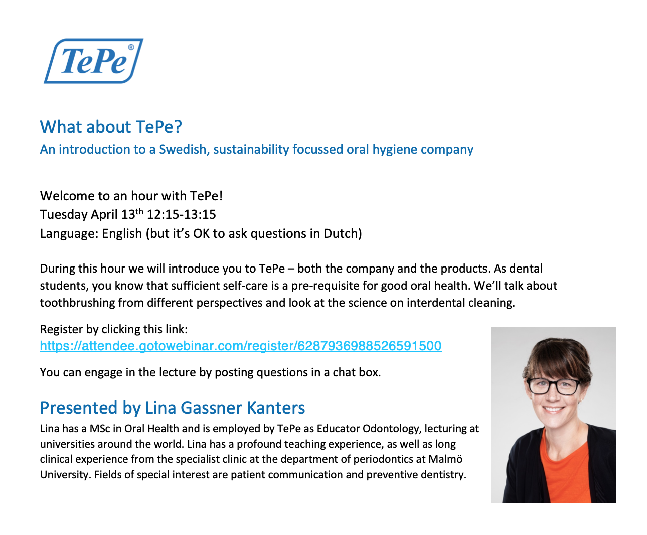 Webinar - What about TePe?